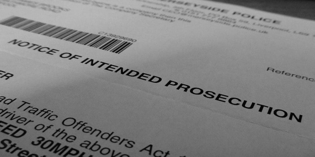 Have you received a Notice of Intended Prosecution?